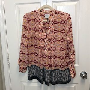 Anthropologie HD in Paris Patterned Blouse